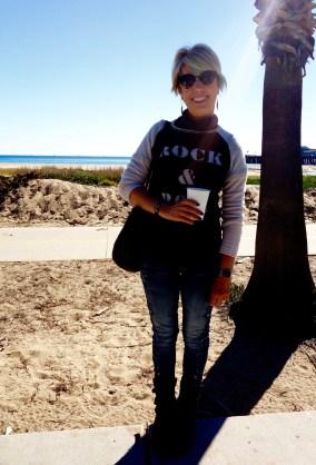 Walking along the beach in Santa Barbara