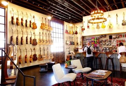 Guitar shop in the Funk Zone