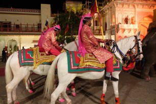 Horses at wedding Jaipur City Palace