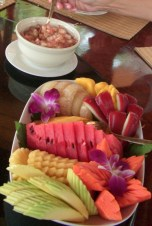 Fruit platter in Thailand