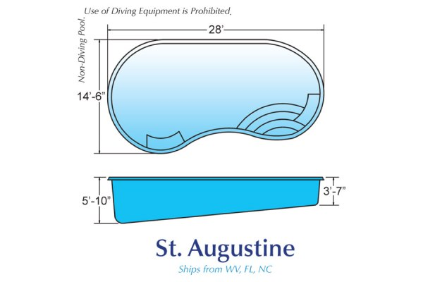InGround Fiberglass Swimming Pool Shell for Sale in Michigan St. Augustine