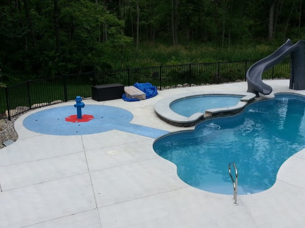 in ground swimming pool builder Michigan Clarston, Milford, Fenton, Oxford, Lansing, Shelby Mi. inground Swimming pool Installation Clarkston Michigan Swimming Pool Sale www.bluehawaiianpoolsofmichigan.com 13-6
