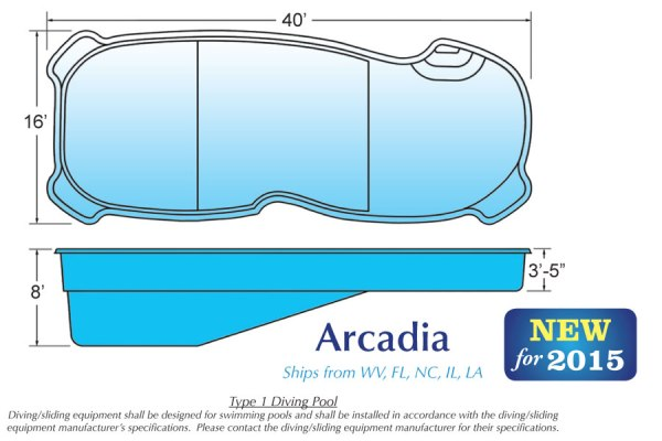 In Ground Swimming Pools Shell for Sale in Michigan Arcadia
