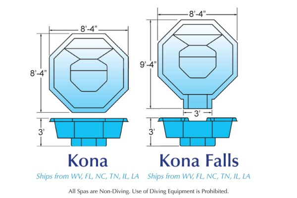 In Ground Fiberglass Swimming Pool Shell for Sale in Michigan Kona
