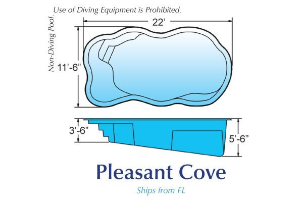 In Ground Fiberglass Pool Shell for Sale in Michigan Pleasant Cove