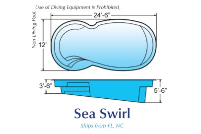 blue hawaiian pools of michigan sea swirl pool