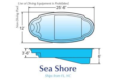 in ground fiberglass pool sale Michigan Sea Shore