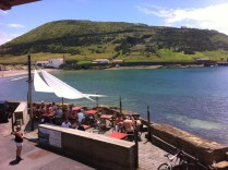 View of Genuino's Restaurant looking at whaling station