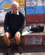 After numerous trips to Azores, John from 'Sara 2' about to fix up his painting from years ago.