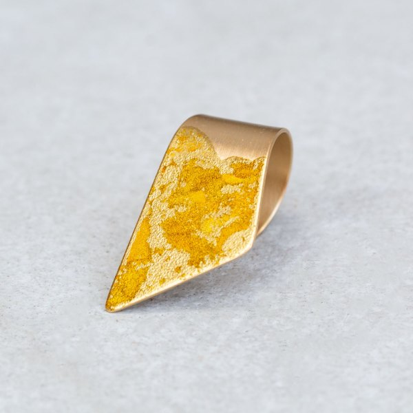 Gold Wrap Ring angle view.