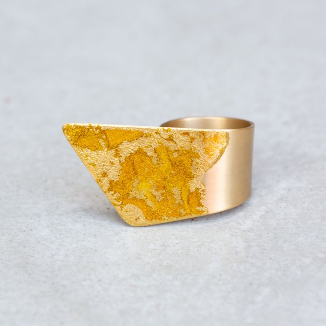 Gold Wrap Ring top view.