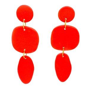 Coral Porcelain Pebbles Earrings