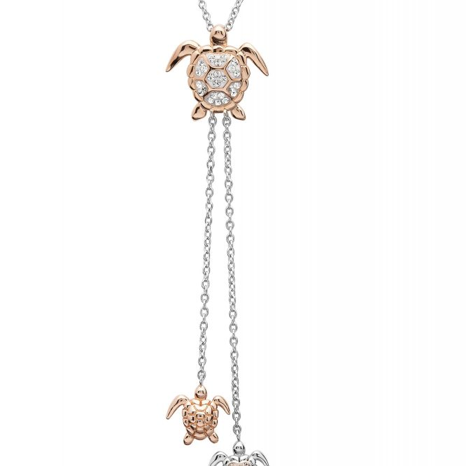 Turtle with Baby Dangles Necklace