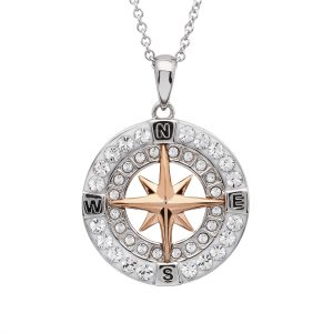 Compass with Rose Gold Necklace