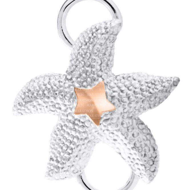 Starfish Convertible Clasp with Rose Gold Accent