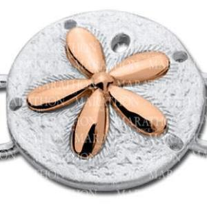 Sand Dollar Convertible Clasp with Rose Gold Accent