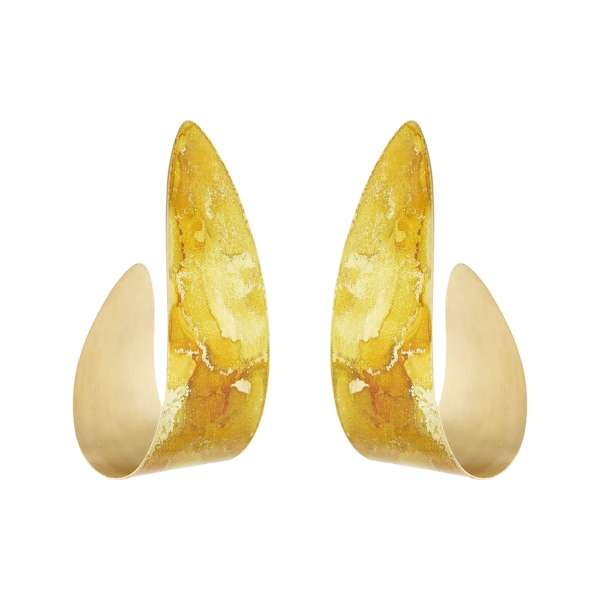 Gold Mini Serpent Earrings