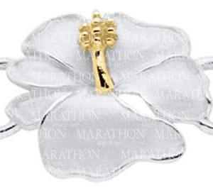 Hibiscus Convertible Clasp with Yellow Gold Accent