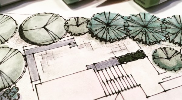 Photo of landscape design plan