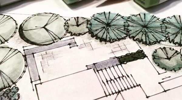 Photo of landscape design plan