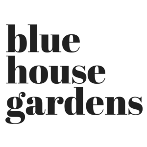 blue house gardens logo
