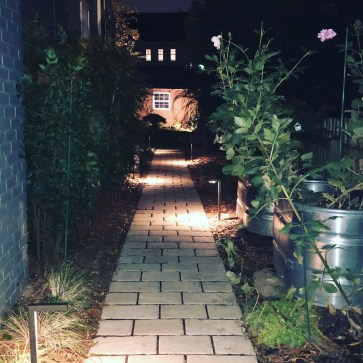 Photo of landscape lighting