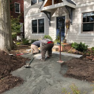 Photo of flagstone installation