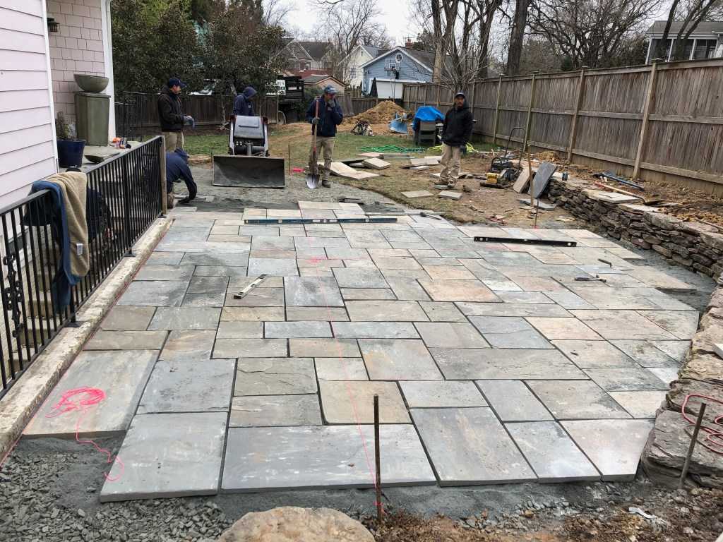 Photo of flagstone patio