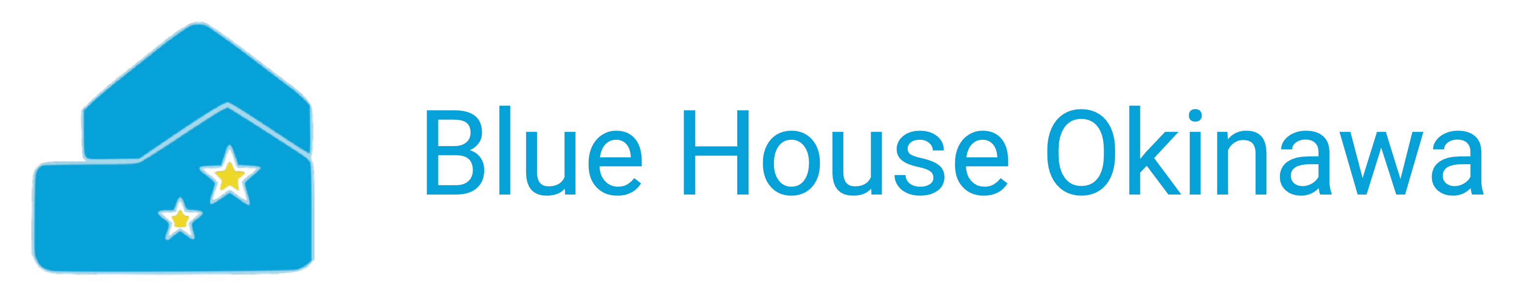 Blue House Okinawa Logo with Text