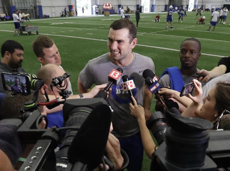 Andrew Luck hasn't thrown 'The Duke' during rehab