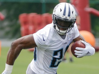 DeMarco Murray running the football during training camp practice.