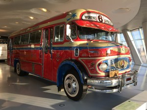 A Vintage Merc Bus at the Mercedes Benz Museum