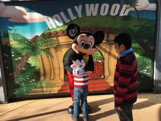 Meeting Mickey Mouse at Disneyland Paris