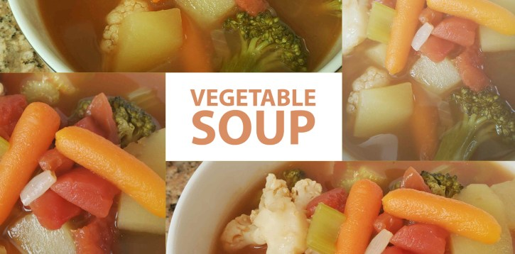Vegetable Soup for Lunch