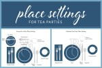 How to Set the Table for a Tea Party - Informal vs Formal Tea Party Place Setting