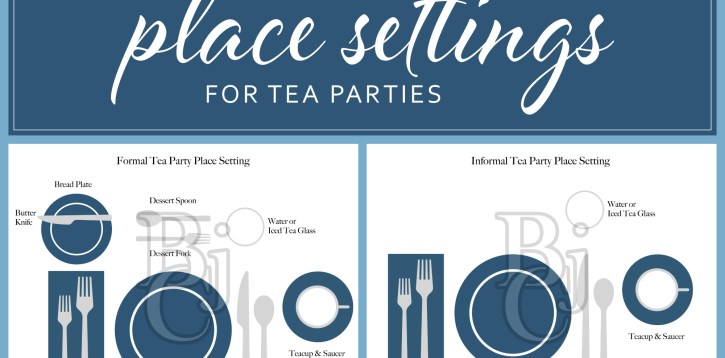 How to Set the Table for a Tea Party – Informal vs Formal Tea Party Place Setting
