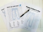 Father's Day Free Printout Word Games
