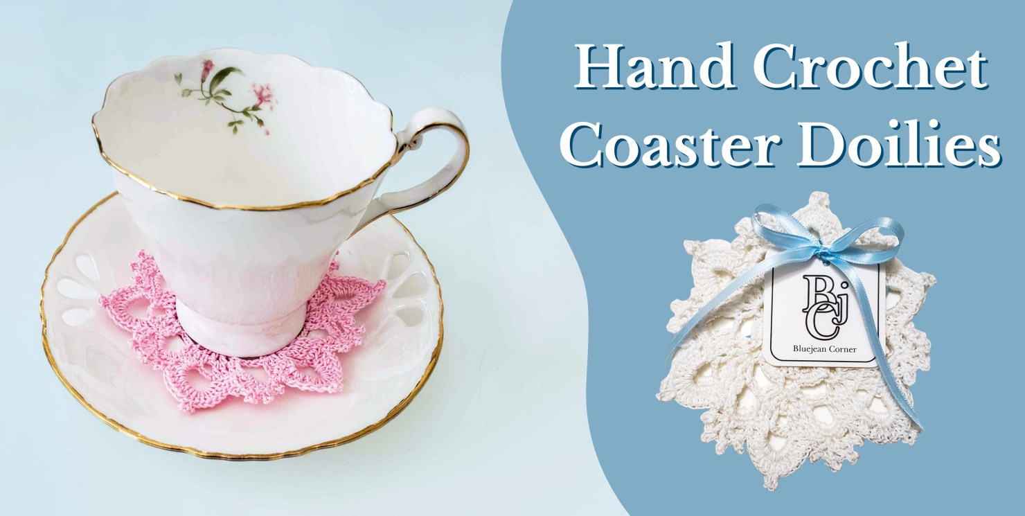 Hand Crochet Teacup and Beverage Coaster Doilies