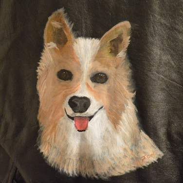 Painted Vest (My Dog Tanner)