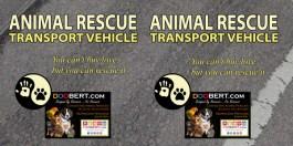 0LR-Rescue Car Magnet - Pale Yellow