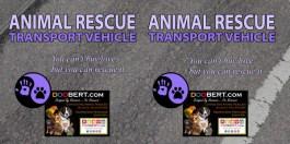 0LR-Rescue Car Magnet - Purple