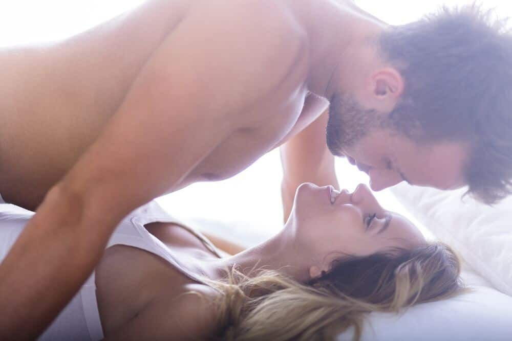 beautiful couple doing morning sex