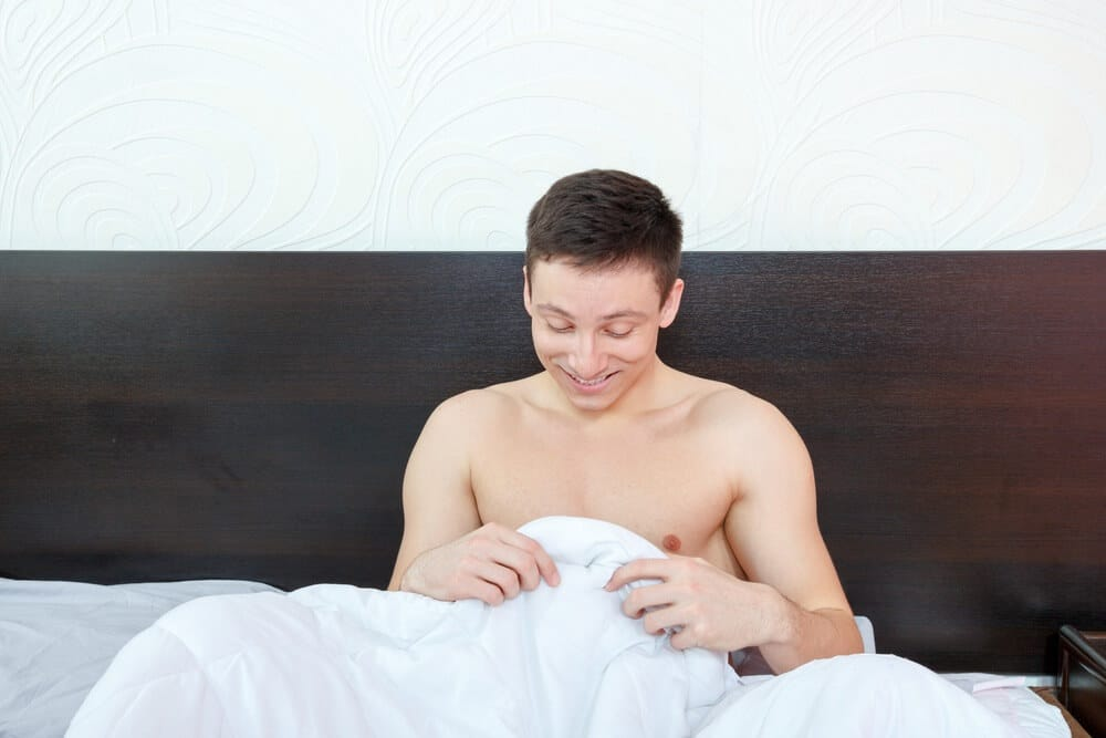 man with morning wood