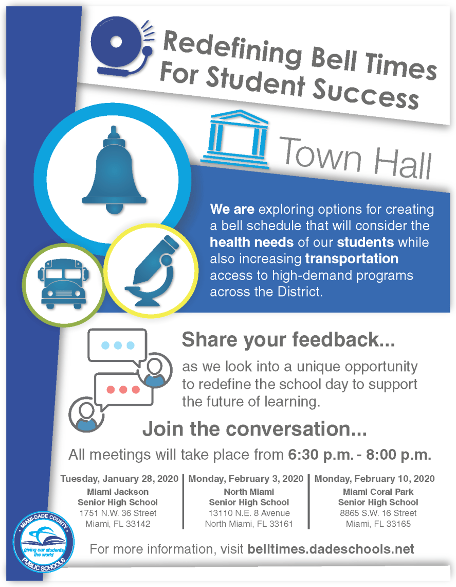 Bell Times Town Hall Flyer