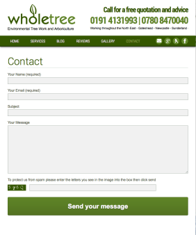 responsive design - tablet-contact