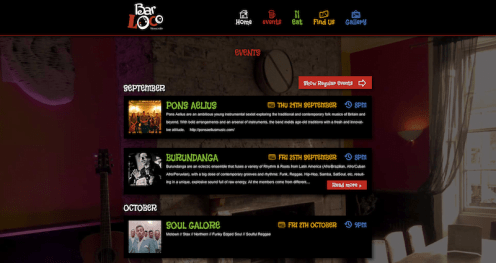 Bar Loco Events Page