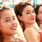 キン冷えコークCMの女の子は誰?水着姿の女性モデル3人組が美人!