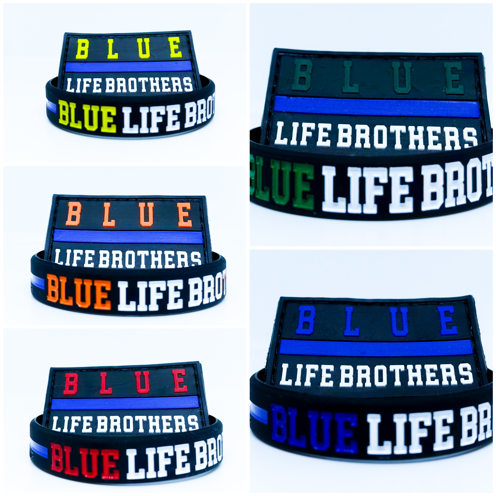 Pack Blue Life Brothers Blue Colors pulsera y parche