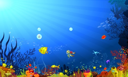 Ocean underwater background