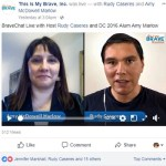 video: my facebook live chat with this is my brave